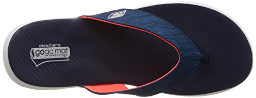 Skechers On The Go Flow, Tongs femme Bleu - Bleu marine
