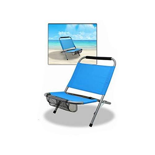 Lemon Tree, S.L. Silla Plegable de Aluminio con Bolsillo Compartimento para Playa,...
