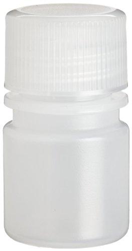 Wheaton 208923 Auslaufsichere LDPE-Flasche mit enger Öffnung und 20-410 Schraubverschluss, 25 mm Durchmesser x 43 mm Höhe, 10 mL, Naturbelassen (72-er Pack)