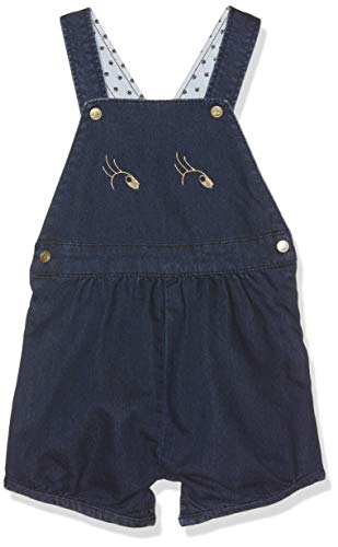 Petit Bateau Baby-Mädchen Besilo Latzhose, Blau (Jean 01), 92 (Herstellergröße: 24M/86cm) - Petite Hose Hosen