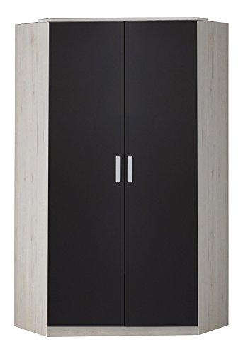 Wimex Kleiderschrank/ Drehtürenschrank Cariba, (B/H/T) 95 x 198 x 95 cm, Weißeiche/ Absetzung Lavafarbig