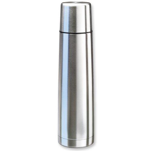 Isosteel VA-9554Q Vakuum-Isolierflasche 0,9 L aus 18/8 Edelstahl mit Quickstop-Einhandausgießsystem und Trinkbecher