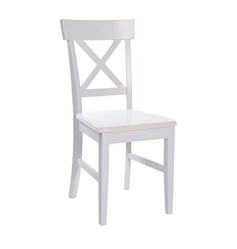 elbmöbel Alex - Juego de 2 sillas de Madera Maciza de Haya,...