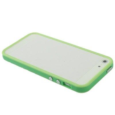 Wkae Case & Cover Plastic Bumper cadre avec des boutons pour iPhone 5 ( Color : Green ) Green