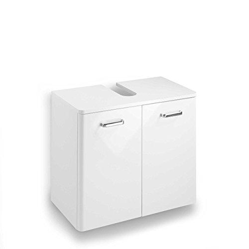 Pelipal 359 Piolo Waschbeckenunterschrank Holzdekor Weiß Hochglanz 33,0 x 60,0 x 53,0 cm - Waschbeckenunterschrank 60