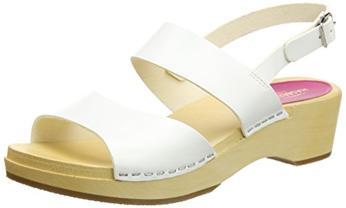 Swedish Hasbeens Helena, Sandales Bout Ouvert Femme