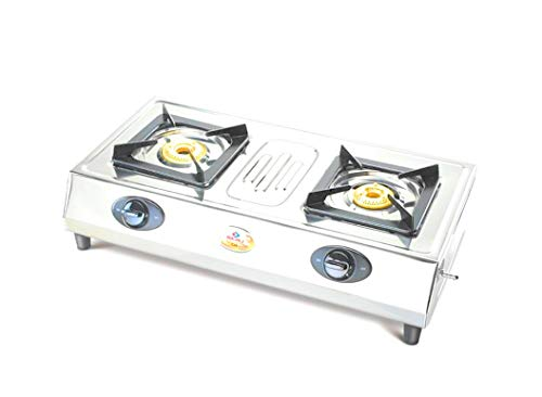 Bajaj CX 8 Gas Stove ,SS 2 Burner- BIG BODY(18-Inch)_Multicolour
