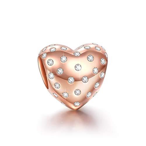 NINAQUEEN Sternen Liebe Damen Charm 925 Sterling Silber Bead für pandora charms armband Schmuck...