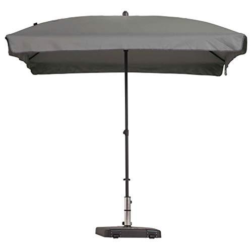 Madison Parasol Rectangulaire Inclinable Parasol de Jardin Terrasse Balcon Extérieur Plage Piscine Protection Solaire UV 50+ Gris Clair