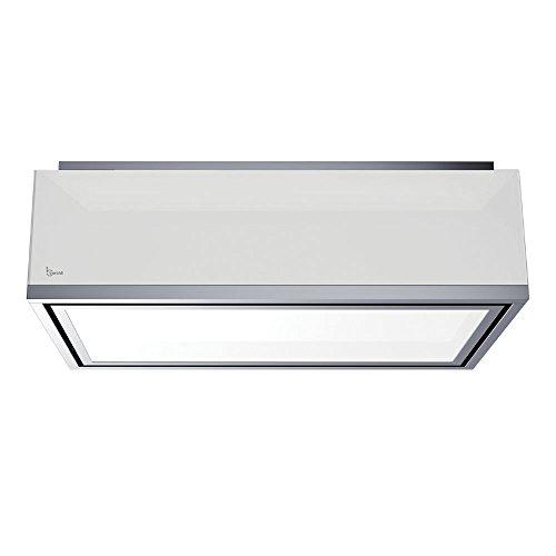 Baraldi Soffitto Cappa da Cucina Xenia Light 120 cm, 800 m3/h, Metallo, Bianco/Acciaio