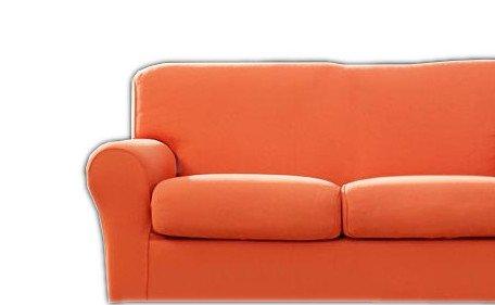 Bassetti copridivano mania per divani 3 posti fino a 210 cm di larghezza (arancione)