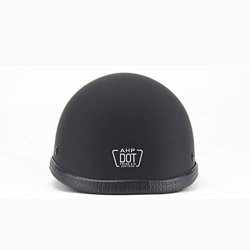 adhalbhelm, DOT Zertifiziert/Scooter Jet Pilot Helm (Geschenk: Brille, Maske),Matteblack,L ()
