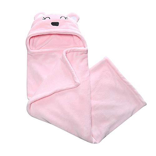Glrero Baby Schlafsack,Cartoon Bär Baby Coral Quilt/Klimaanlage Decke/Neugeborenen Schlafsack / 0-12 Monate Pink-OneSize (Coral Kinderzimmer-quilt)