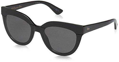 Dior Damen DIORSOFT1 Y1 D28 51 Sonnenbrille, Schwarz (Shiny Black/Grey),