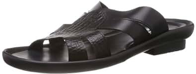 Mochi Men's Black Athletic & Outdoor Sandals - 8 UK (16-7709)