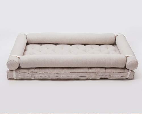Imagen para Home of Wool Montessori - Colchón para cama infantil con protectores amarillo 100% lana de cordero. Talla:90 x 190 cm
