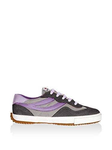 Superga 2832 Nylu Unisex-Erwachsene Sneaker Grey-Lt Grey-Violet