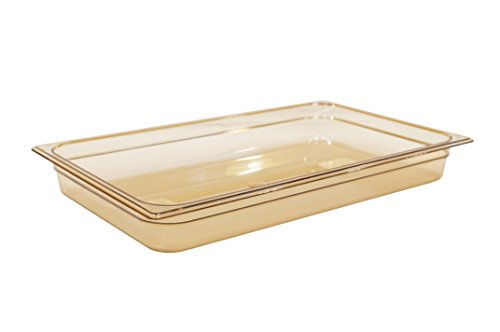 Rubbermaid Commercial Products FG230P00AMBR Couvercle rigide 1/2 Gastronome avec trou, Transparent