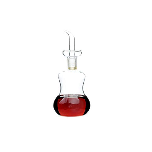BWYFGRT Vidrio Olla de Aceite Borosilicato Hogar Ollas a Prueba de Fugas Vinagre Ollas Cocina Salsa de Soja Olla Tanque de Aceite Botella de condimento.200Ml