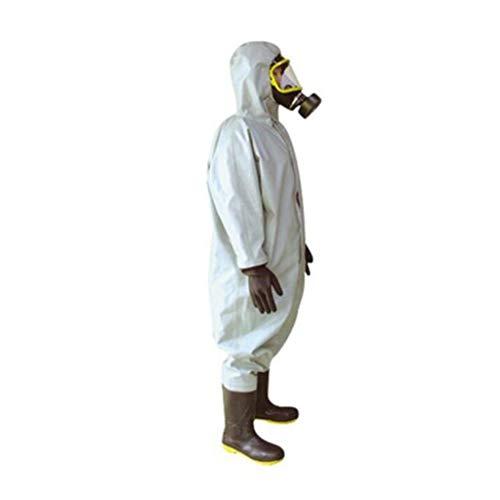 CYHX Chemikalienschutzkleidung Mit säurebeständigem und alkalibeständigem Öl und spritzwassergeschützter Mehrzweck-Chemikalienschutzkleidung (größe : M) (Mit Haube Gasmaske)