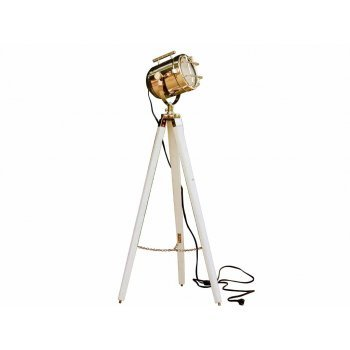 Nautisches Vintage Suche Licht weiß Holz Stativ Focus Stehlampe