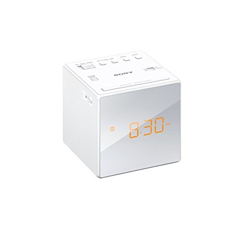 Sony ICF-C1W Uhrenradio (LED-Display, Alarm) weiß (Wecker Sony)