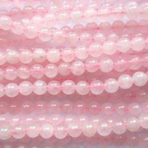 """Pretty Pebbles Perlen - 15 """"Rosenquarz Edelstein Perlen rund 8mm"""
