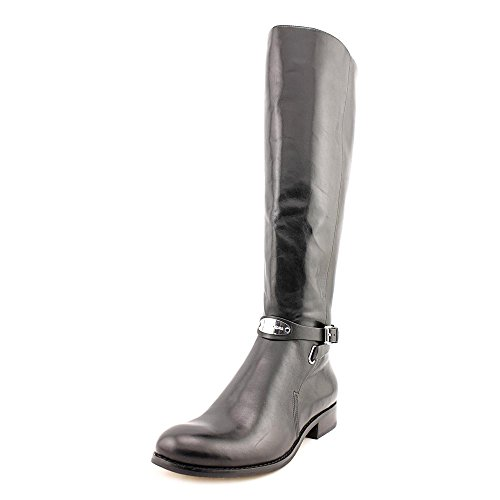 Michael Kors Arley Riding Boot Donna Nero Pelle Stivali Scarpe EU 36