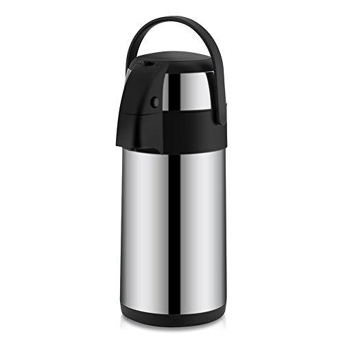 Termo de acero inoxidable con dispensador de té y café, acero inoxidable, 3 L