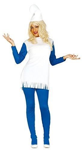 Damen blau GNOME 1980s Jahre Cartoon Film Kostüm Kleid Outfit UK 14-16-18 - Blau, Blau, 14-18
