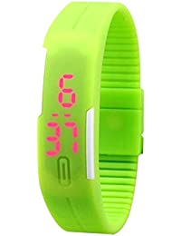 Snapcrowd Digital Pink Color Silicone Digital LED Band Wrist Watch For Boys, Girls, Men, Women - B07H7FLN7D