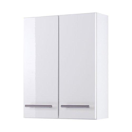 Held Möbel 018.2096 Parma Hängeschrank , 2 türig / 2 Einlegeböden / 50 x 64 x 20 cm, Hochglanz-weiß