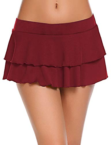 ADOME Damen Plaid Rock Minirock Schulmädchen Schulrock Schottenkaro Skirt Karierte Mini Röcke Cosplay - Private School Girl Kostüm