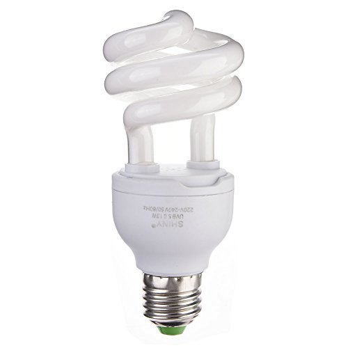 Prokth E27 UVB Lampe Calcium Supplement Heizlampe für Reptilien, 13 W für Reptilien/Schlangen/Eidechsen/Insekten/Schildkröten/Schildkröte Amphibien-warmes Weiß Led