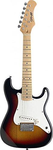 Riva776Yale Chitarra Rock Chitarra elettrica da Roccia per Bambini Chitarra Giocattolo con Microfono Rosso