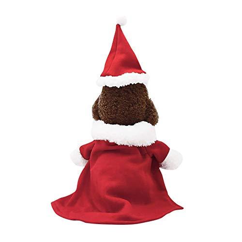 Amphia Haustier Kostüm - 1 Satz Haustierweihnachtskostüme,1 Set Weihnachten Hund Kleidung Santa Doggy Kostüme Pet Bekleidung Dekoration(Rot,S)
