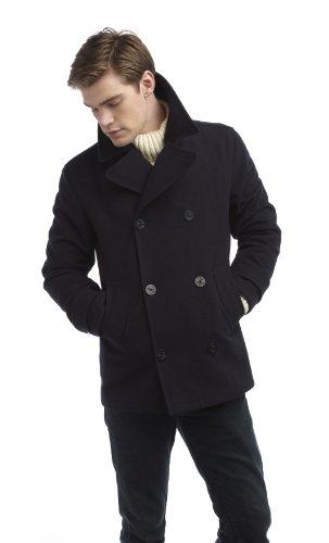 Original Montgomery PEA Coat Herren, Größe M, Navy -