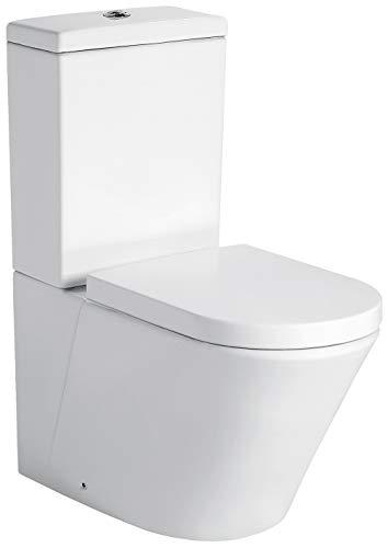 Stand-WC mit Spülkasten CT1088 - Wasseranschluss unten - inkl. Soft-Close-Deckel