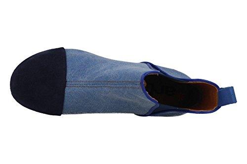 ART BOTTINE 1272T CIRE BLEU TOILE AZAFATA Bleu