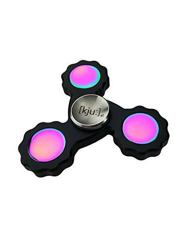 Fidget Spinner Metall deutscher Hersteller unzerstörbares high speed Keramik Kugellager hybrid Si4N3 klassik schwarz [kju]42 Top Geschenk für Kinder und Erwachsene Hand Spinner Finger Spinner