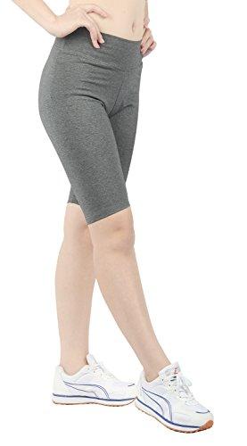 Cord-stretch-leggings (iLoveSIA Jogging Damen Shorts Sport Stretch Leggings Strumpfhosen Slim fit Fitness Grau,L)