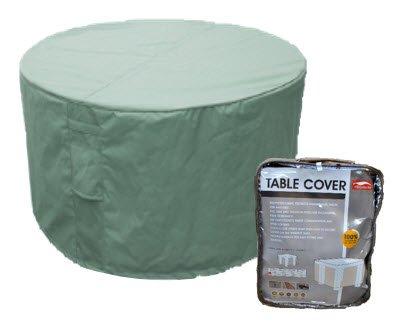Housse pour table de jardin ronde 128cm polyester coloris gris