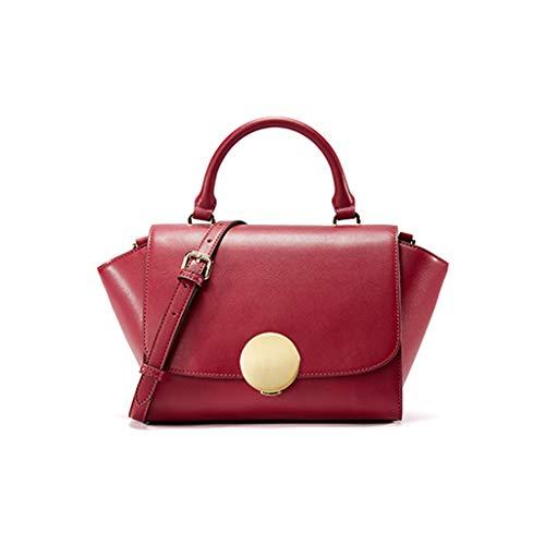 Neue Frauen Umhängetasche Leder Umhängetasche Mode Persönlichkeit Chic Flügel Tasche (Farbe : Rot)