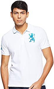 Giordano Men's 01018222 3D Lion Multi-color Embroidery
