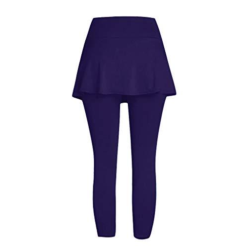 Setsail Damen Casual Rock Leggings Tennis Hosen Sport Fitness Cropped Culottes Trend Hosen 5-pocket-cropped Pants