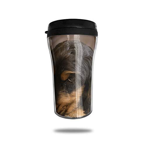 OUYouDeFangA Kaffeetasse, Motiv Cocker Spaniel, 3D-Bedruckt, tragbar, Vakuumbecher, isoliert, für Tee, Trinken mit Deckel, 250 ml