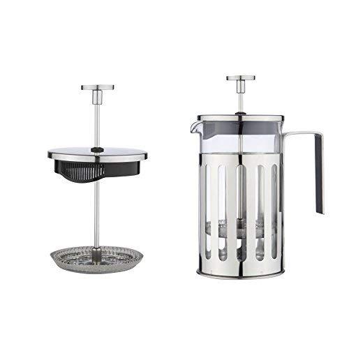 MW-Creations-French-Presse-KaffeeTee-Hersteller-Hitzebestndigem-Cafetiere-mit-Chrome-Rahmen-Doppelfilter