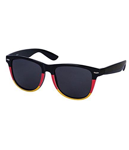 SIX Deutschland Sonnenbrille Coole Wayfarer Brille mit Deutschlandflagge in schwarz rot gelb Fanartikel 2018 (324-340) (World Disney Halloween-kostüme Im)