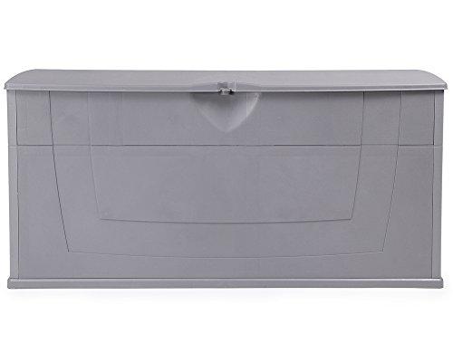 Ondis24 günstige praktische Kissenbox Auflagenbox Gartentruhe Utensilienbox Karisma 270 Liter grau...