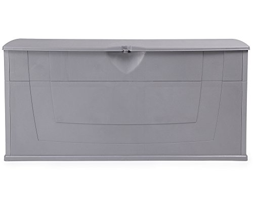 Ondis24 günstige praktische Kissenbox Auflagenbox Gartentruhe Utensilienbox Karisma 270 Liter grau abschließbar